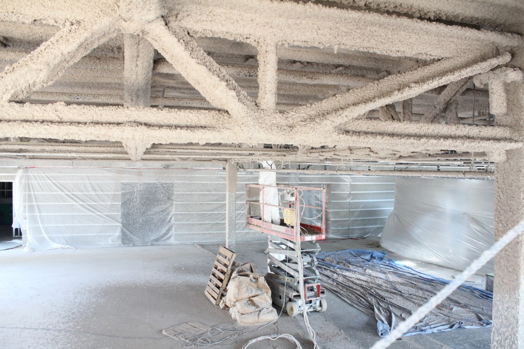 Fire Proofing from second floor