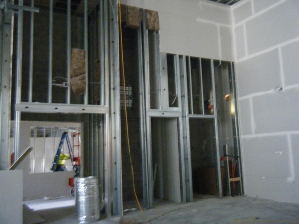 North vestibule, electrical room and boiler room