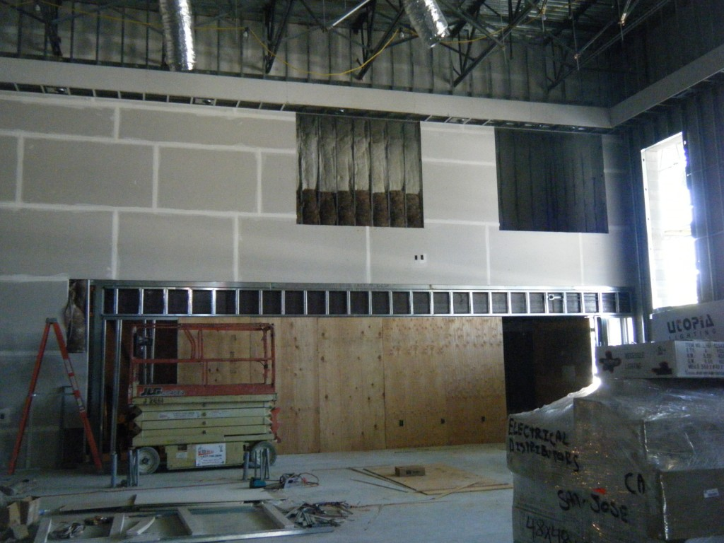 sanctuary framing around the organ platform