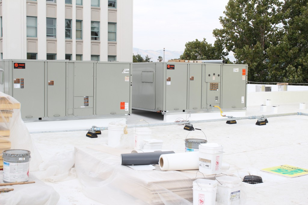 HVAC equipment installed
