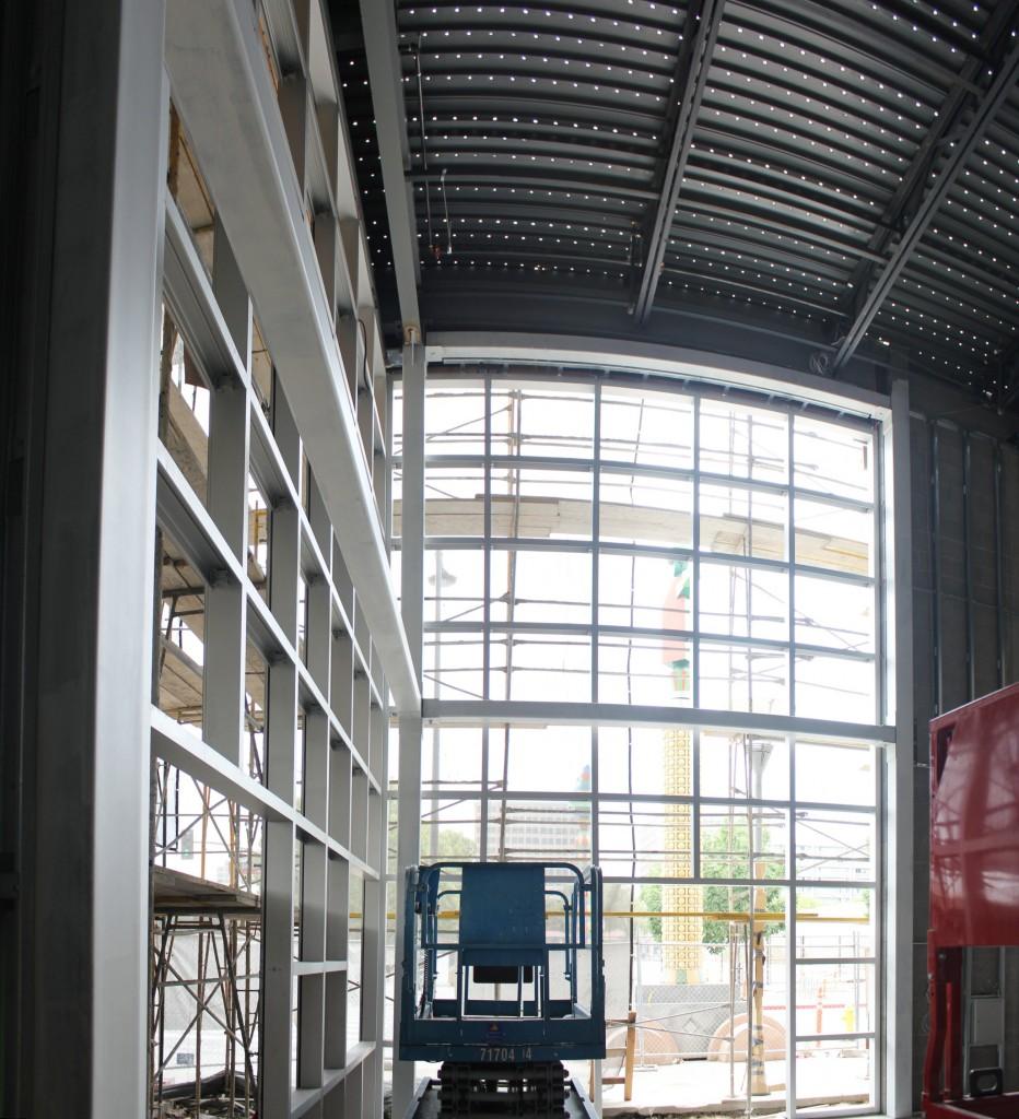 Atrium glass framing complete san jose first united for Atrium windows