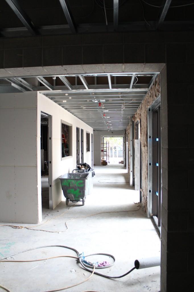 pre-school hallway W view 130624