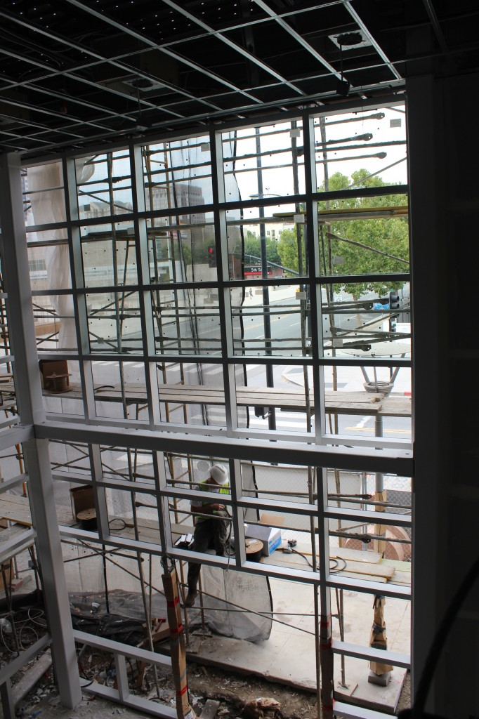 Atrium glass installation 130808