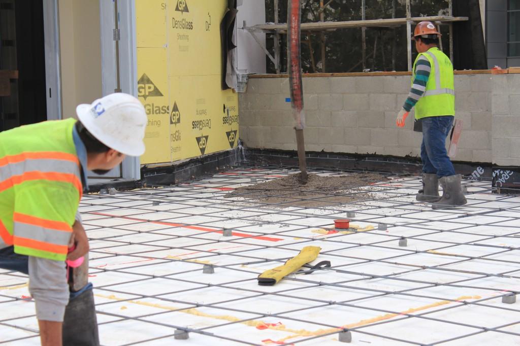 first concrete