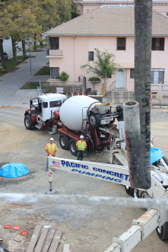 positioning concrete feed