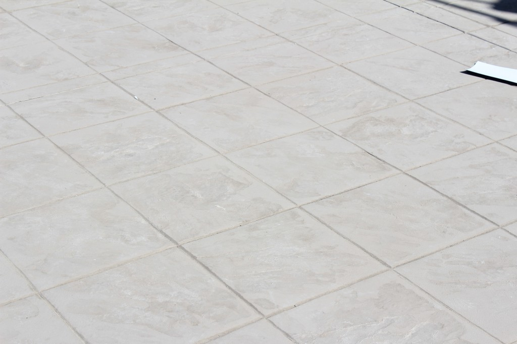 stamped concrete roof deck