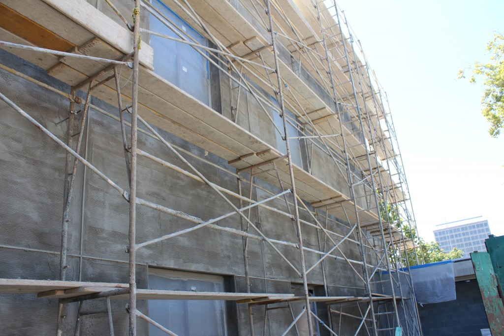 stucco preparation on north side 130823