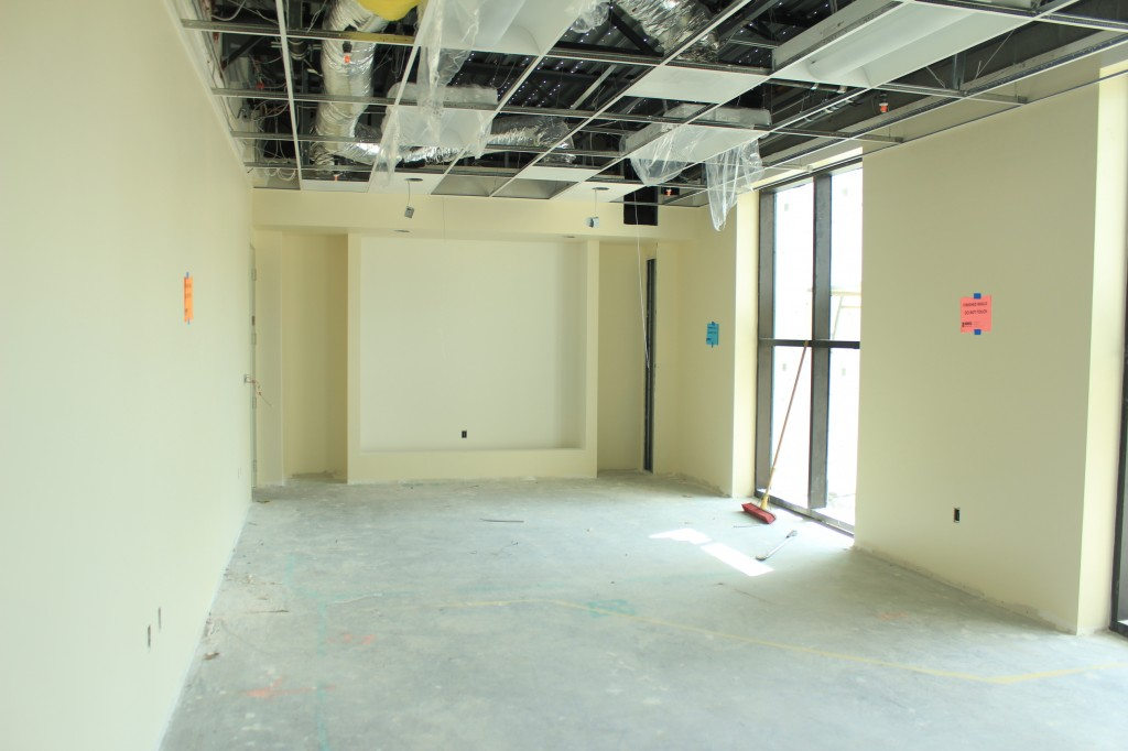 western conference room looking S