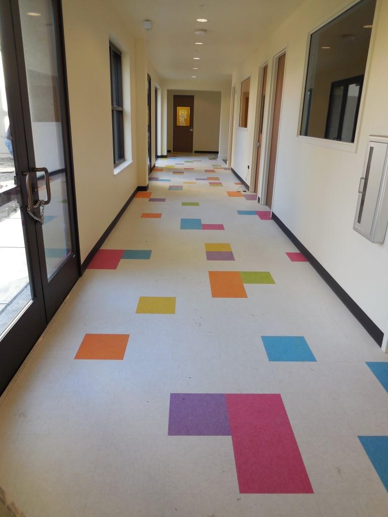 Pre-school Hallway Colors