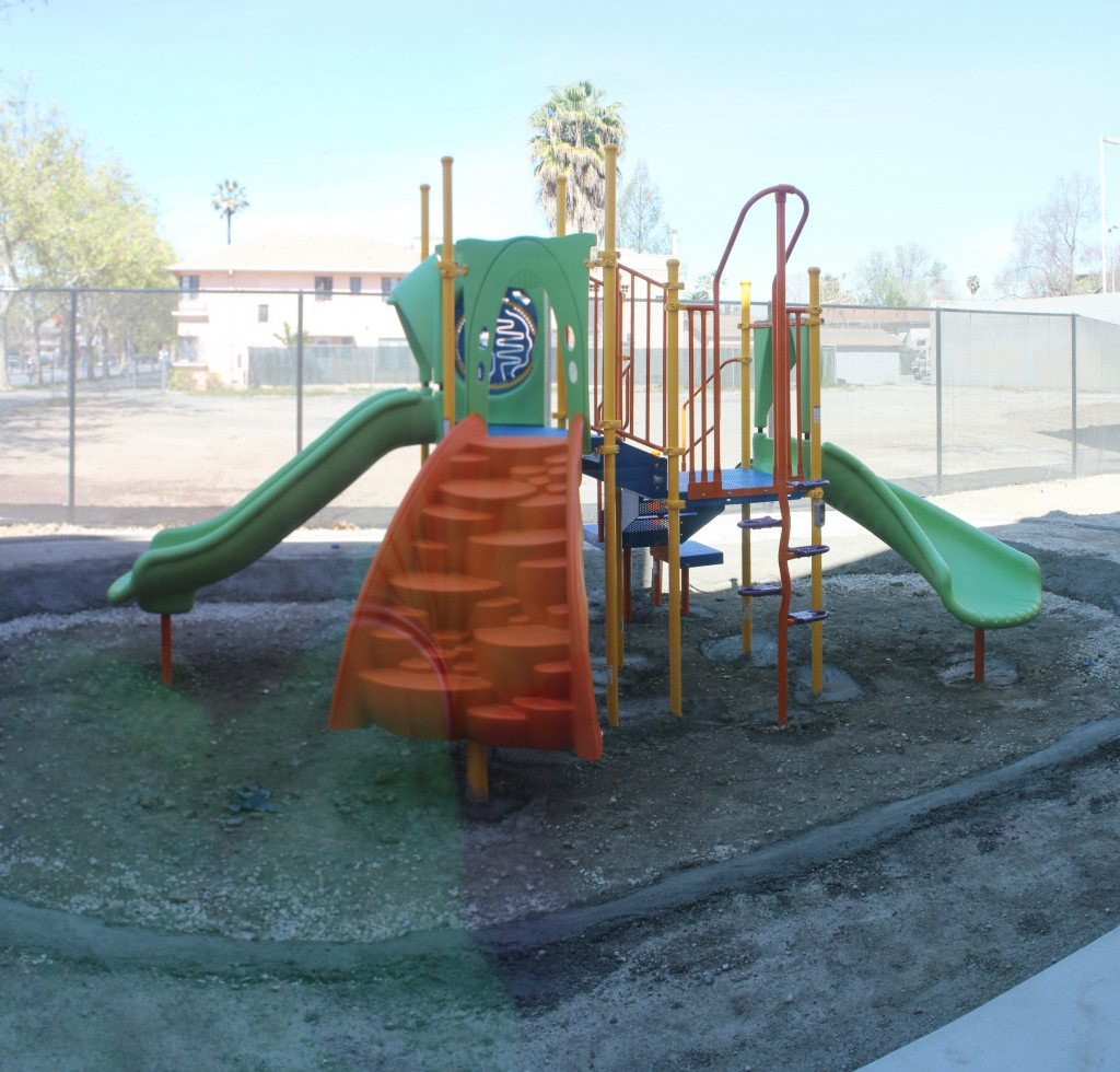 play structure concrete base